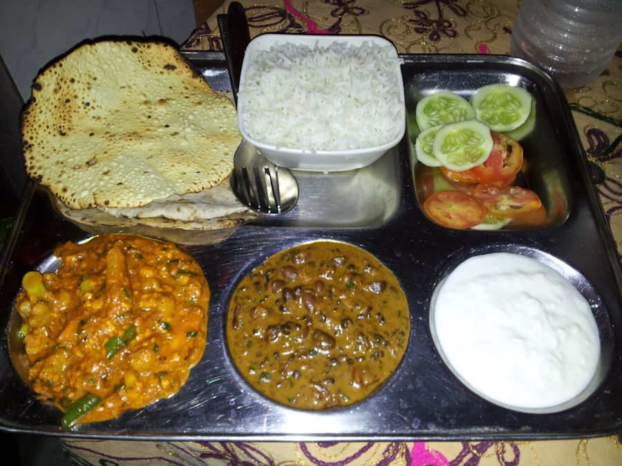 comida vegetariana de India