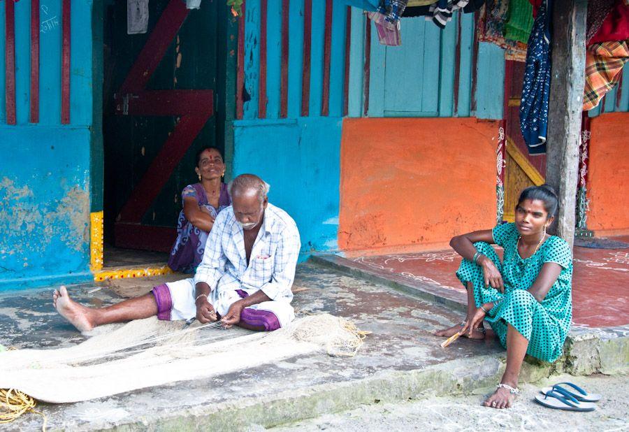 India, viaje, hermosas mujeres, islas, village