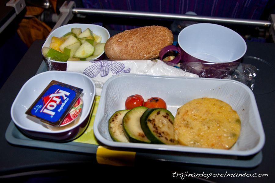 comida, vegetariana, catering, aviones, aerolineas