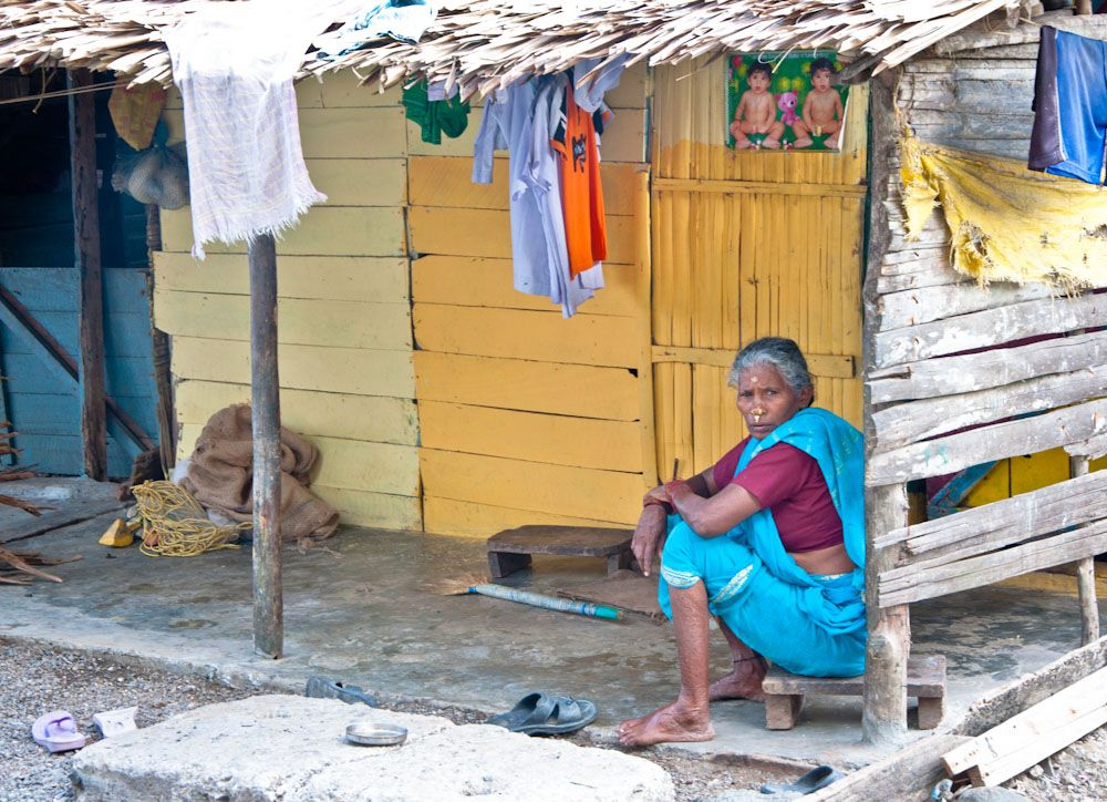India, Cuthbert, Andaman, Rangat, woman, village
