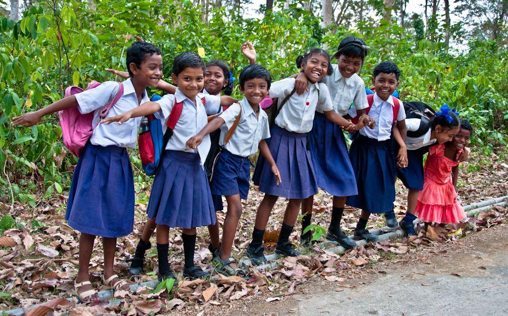 India, viaje, Andaman, islas, Long island, colegio, niños