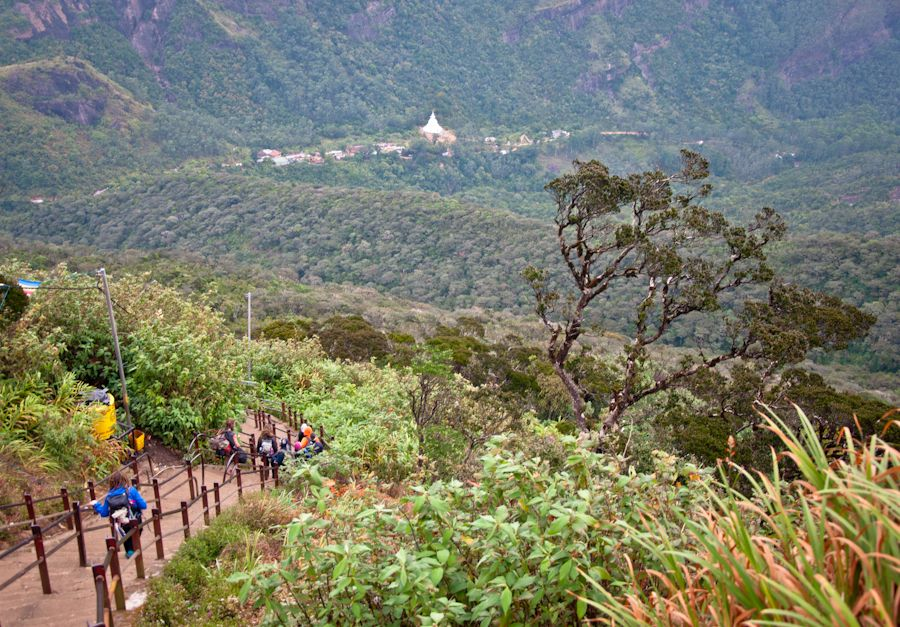 Pico de Adan, templos, pagoda, Sri Lanka, peregrinos