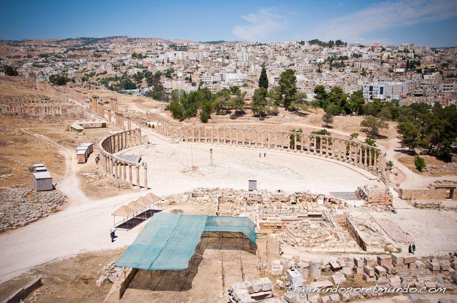 jordania, viajar, gerasa, foro, plaza, visitas, Amman