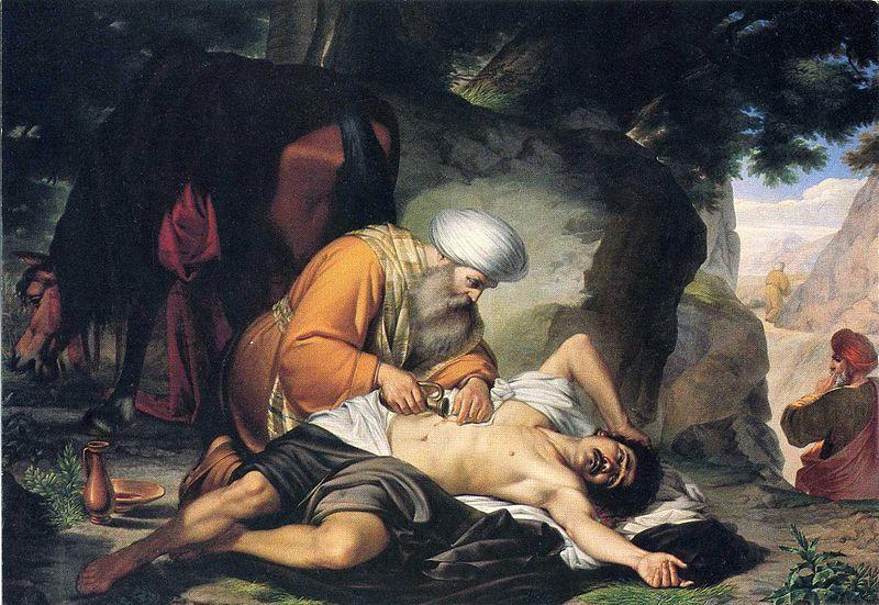 parabola, samaritano, giacomo, conti, cuadro, pintura