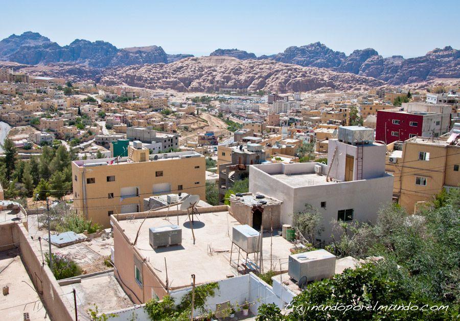 viajar, Jordania, Wadi Musa, pueblo, visita