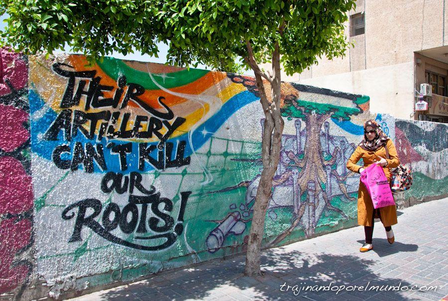 Mural en las calles de Ramallah, Palestina