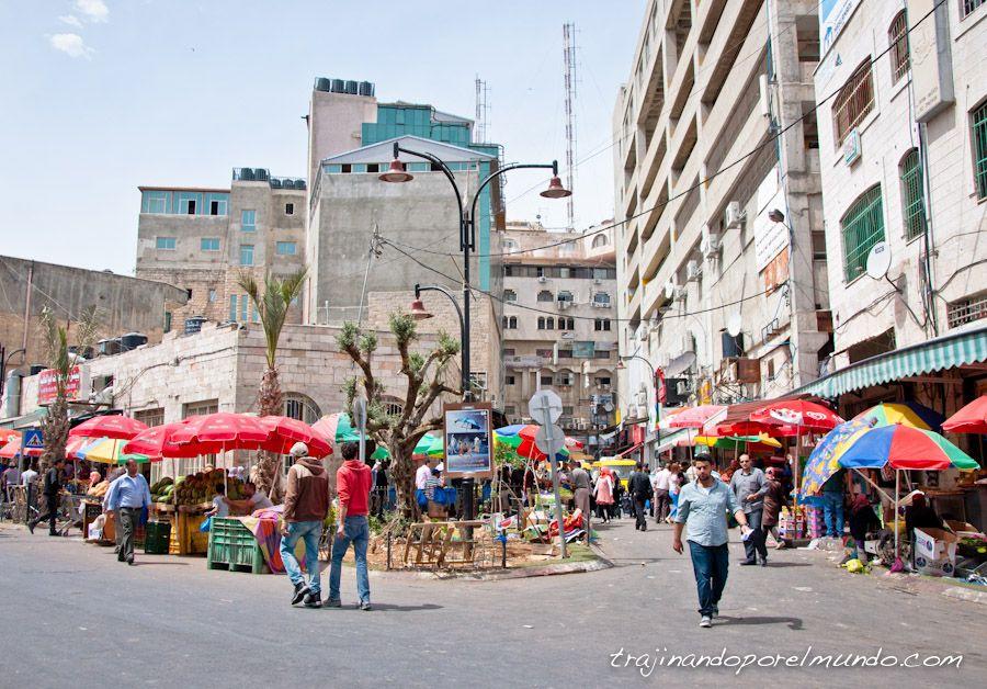 viaje, Palestina, Ramala, paseo, mercados