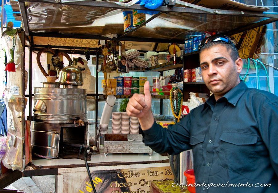 vendedor, cafe, te, palestina, Ramala, que ver