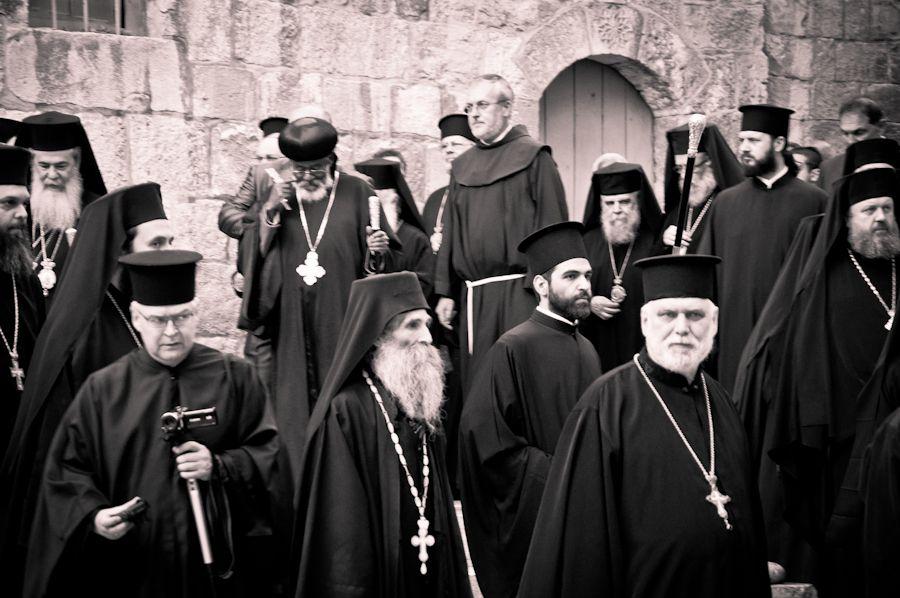 Jerusalen, Ciudad Vieja, celebracion, tumba de cristo