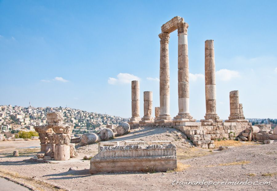 viajar, jordania, que ver, ciudadela, templo, hercules