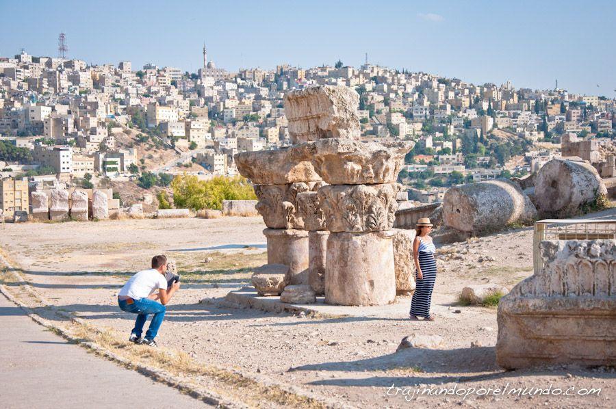 jordania, viaje, que ver en amman, templo, romano, hercules