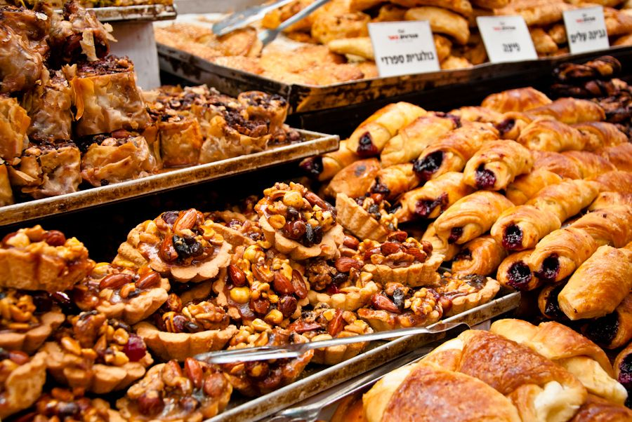 Jerusalen, mercado, dulces, postres, Israel, comer, frutos secos