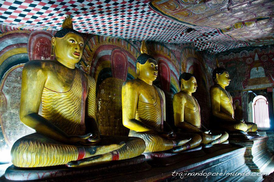 Sri Lanka, viaje, que ver, Dambulla, Budas, estatuas, pinturas
