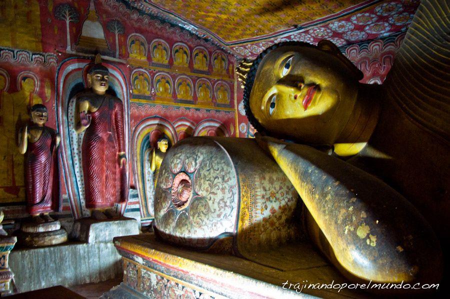 Sri Lanka, pinturas, patrimonio, cuevas, dambulla, budas