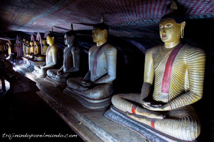 Cuevas de Dambulla, Sri Lanka, patrimonio, templo, que ver, budismo
