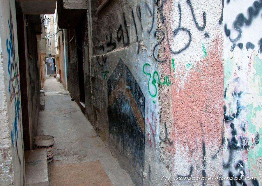 graffiti, meca, campo, refugiados, nablus, cisjordania, west bank