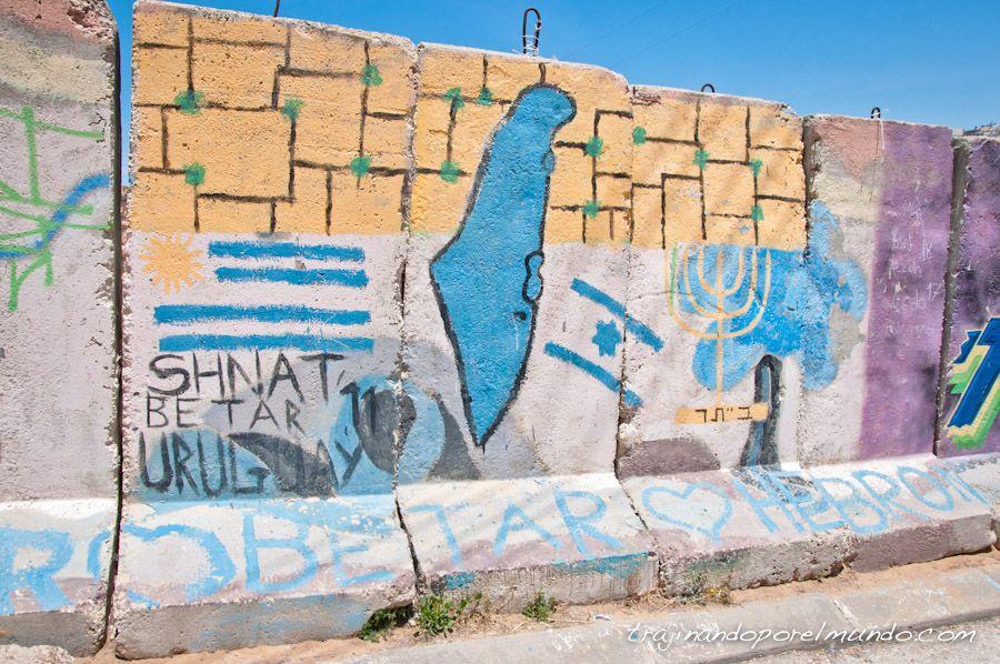 graffiti, ocupacion, palestina, judios, uruguay
