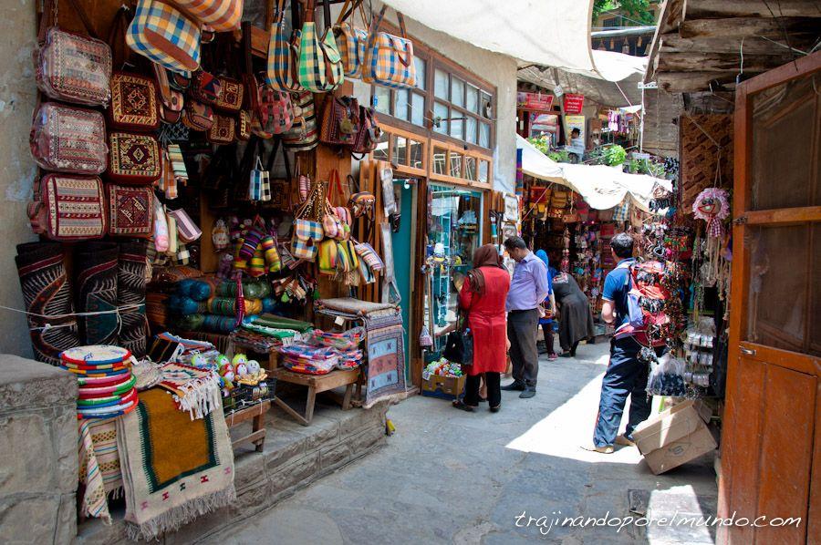 masuleh, pueblo, turistico, iran, norte, compras