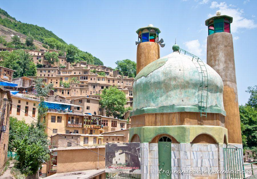 viaje, Iran, masuleh, patrimonio, rural, montañas