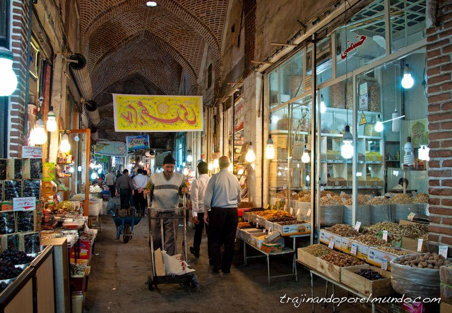 viajar, Iran, bazar, que ver, tabriz, especias, compras