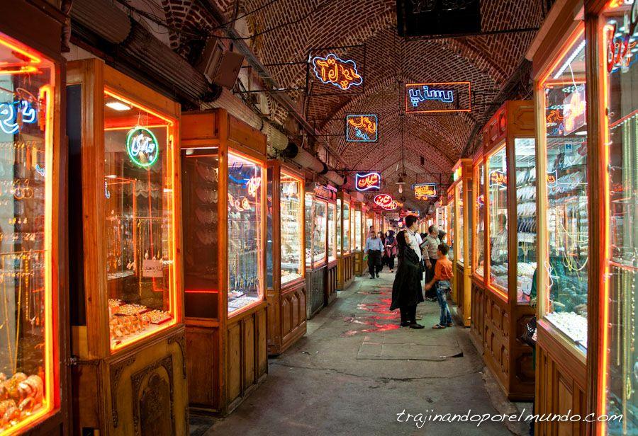 viajar, Iran, bazar, que ver, tabriz, joyas, oro