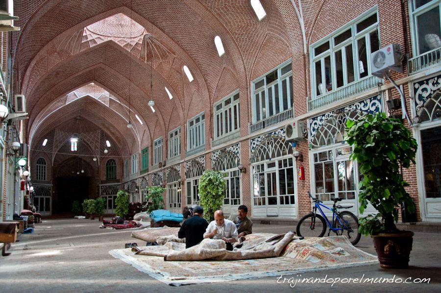 viajar, Iran, bazar, que ver, tabriz, compras, alfombras