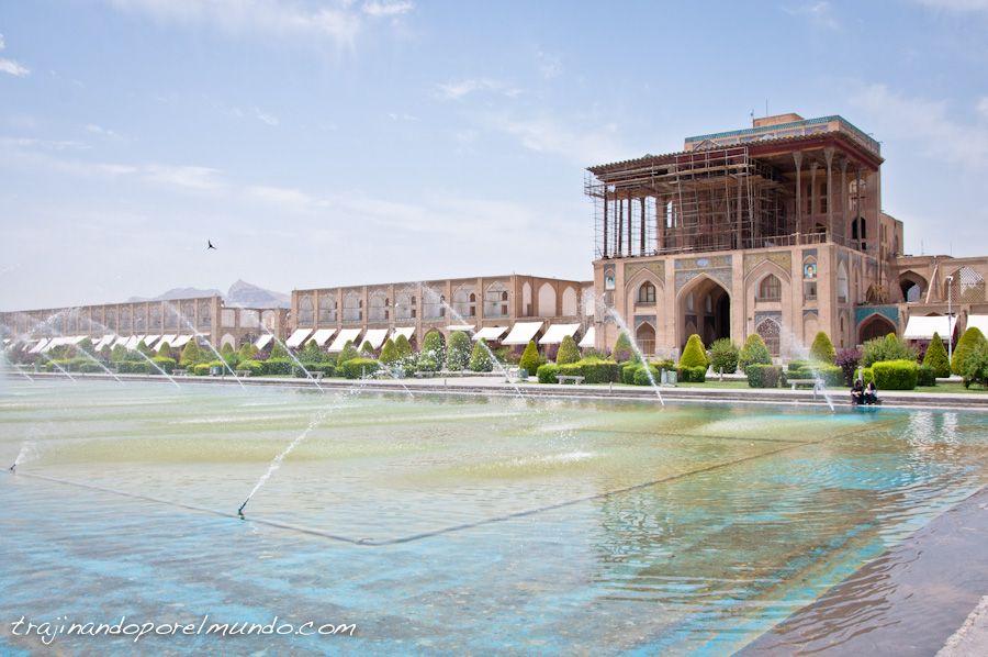 isfahan, que ver, arquitectura, palacio, plaza, ali qapu