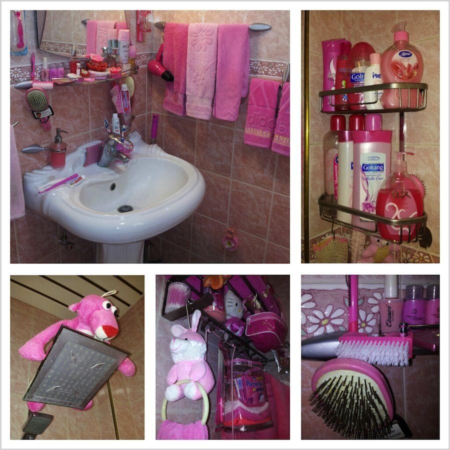 baño rosa, color