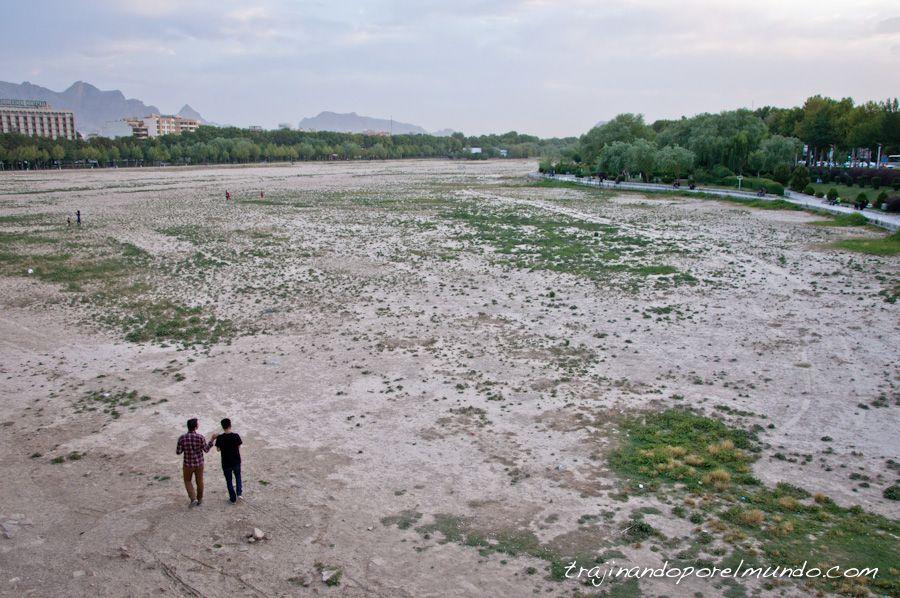 isfahan, zayandeh, rio, sequia, agua