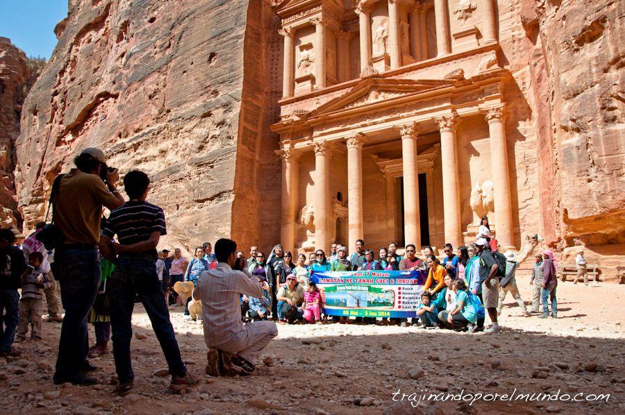 fotos, viaje, jordania, japoneses, turistas