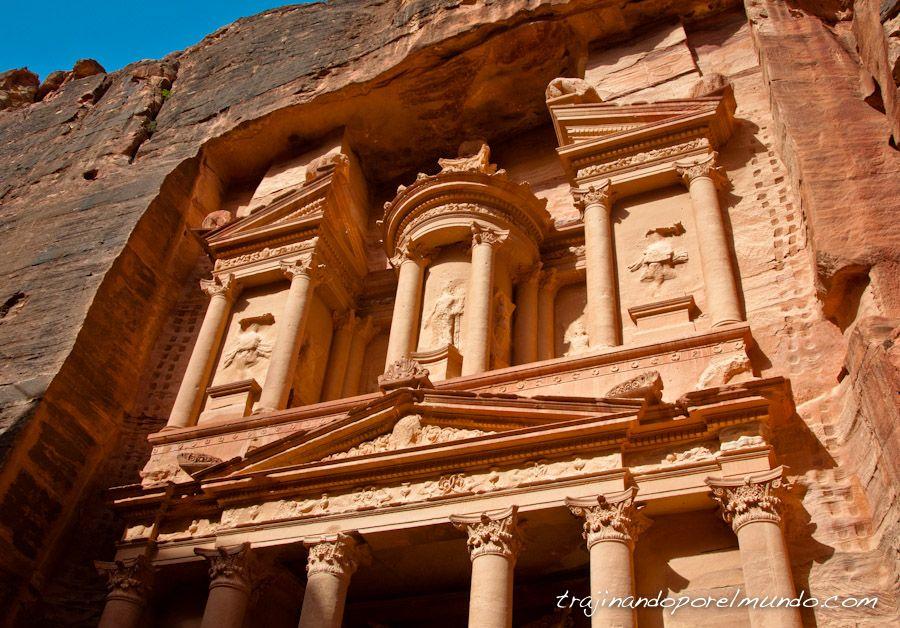tesoro, petra, tumba, rey, jordania, templo, roca