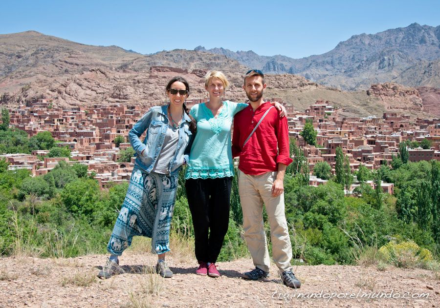 visita, abyaneh, pueblo, bonito