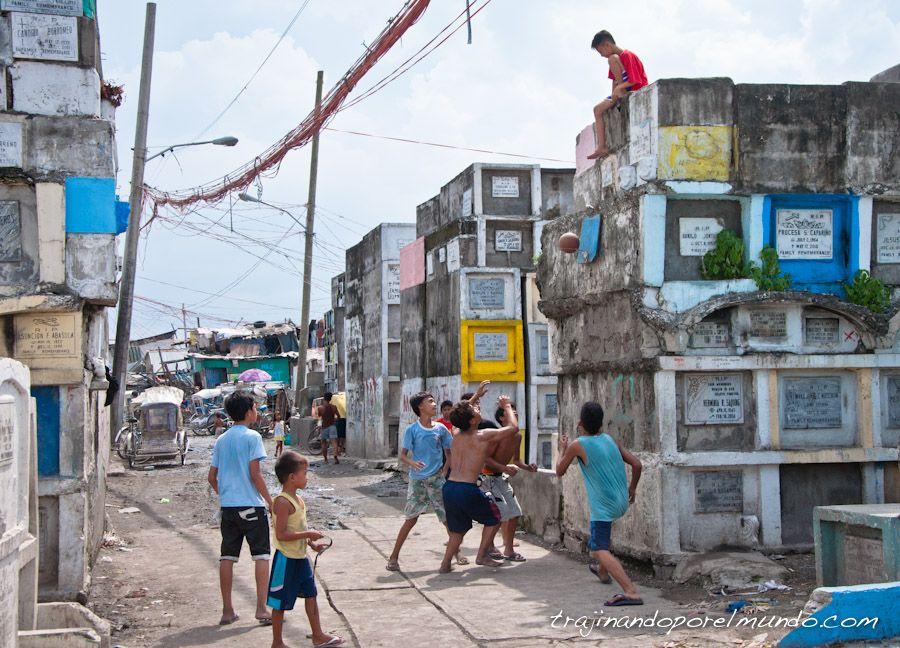 viaje, Filipinas, cementerios, slums, pobreza