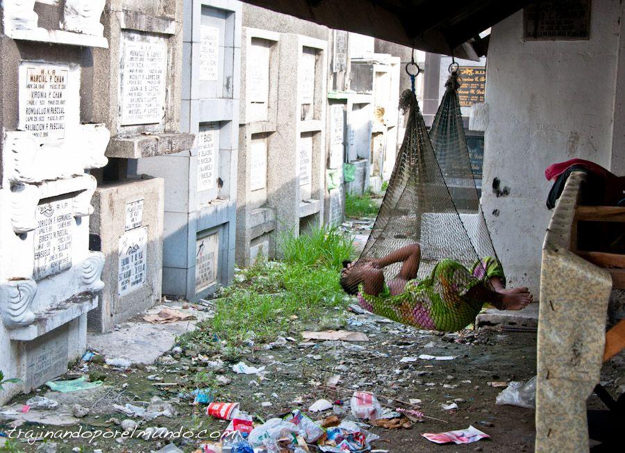 dormir, cementerio, Manila, Navotas, pobreza, basura