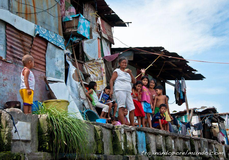 Manila, familias, habitantes, cementerio, slum, pobreza