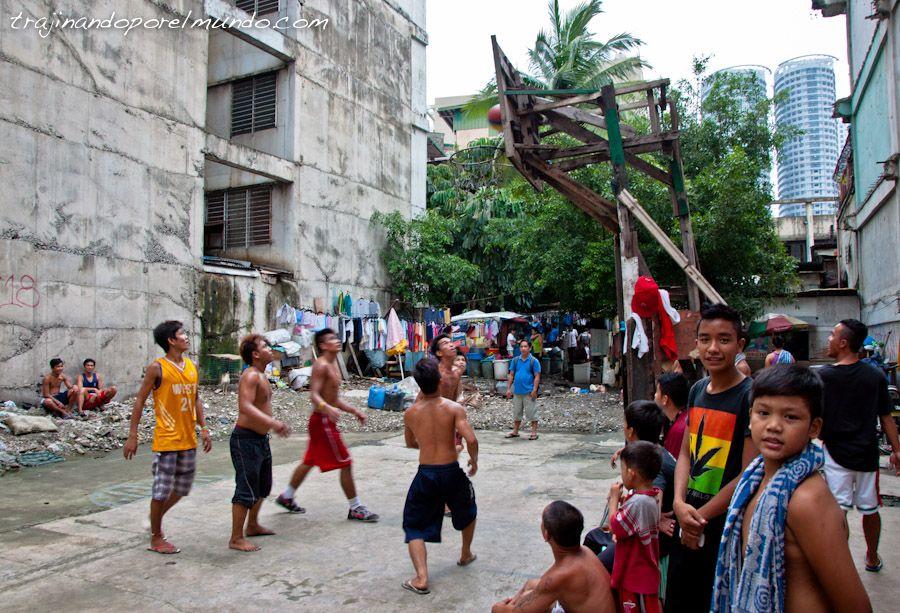 manila, juventud, filipinas, baloncesto, calle