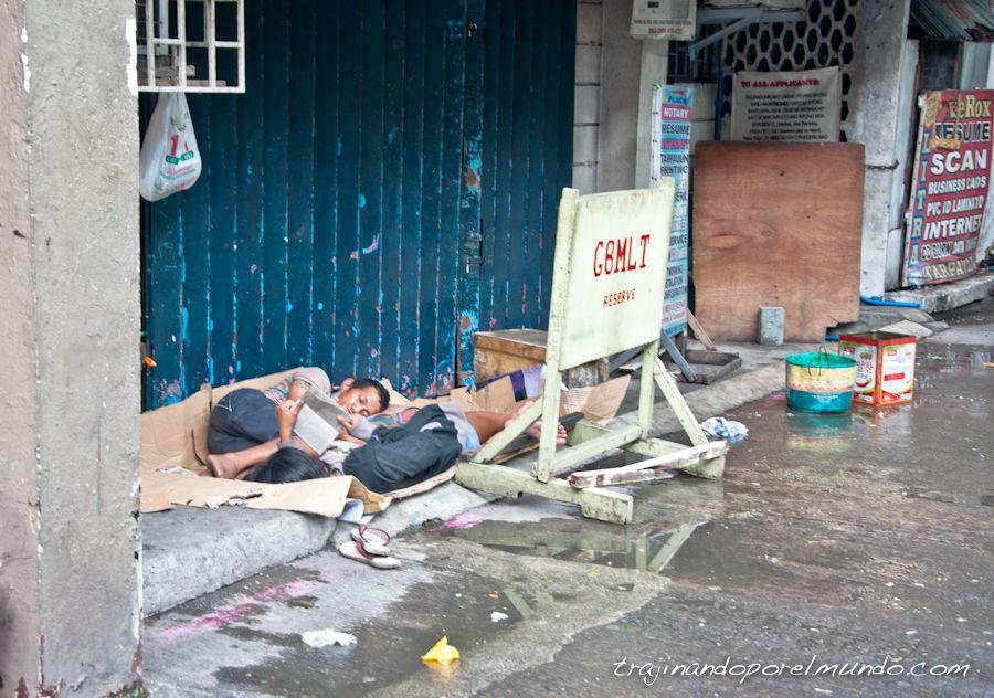 viaje, Filipinas, pobreza, mendicidad, durmiendo en la calle