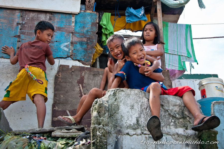 pobreza, infantil, slum, manila, filipinas