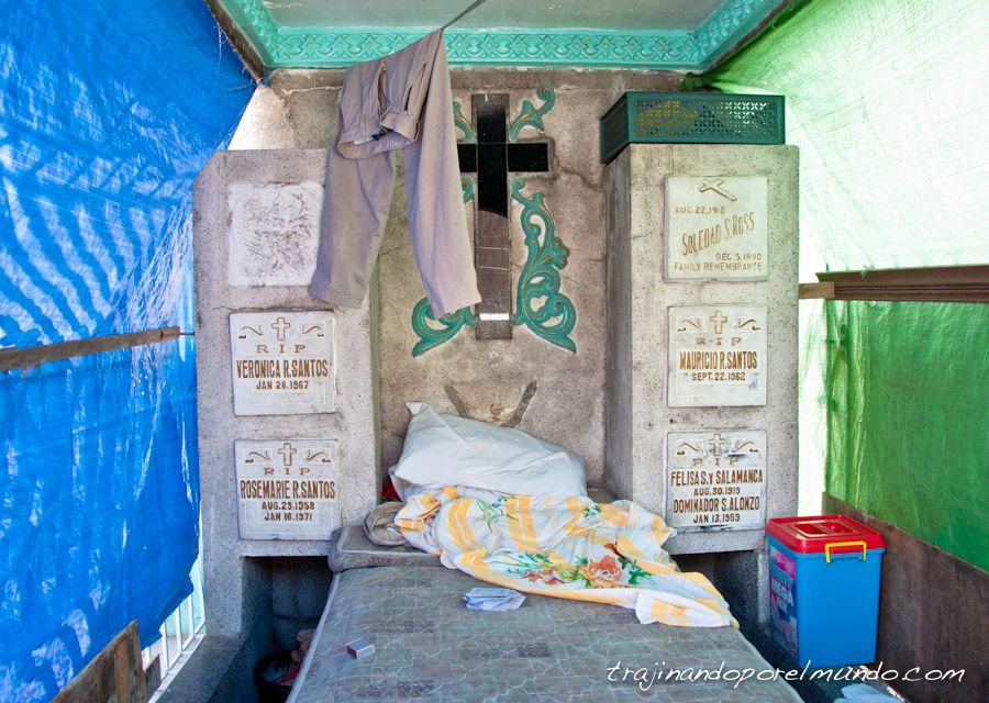 cementerio norte, manila, cama, vivir en el cementerio
