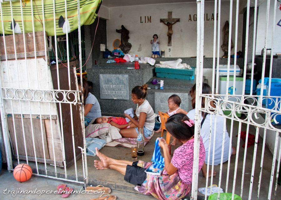 cementerio norte, manila, vivir, tumbas, filipinas