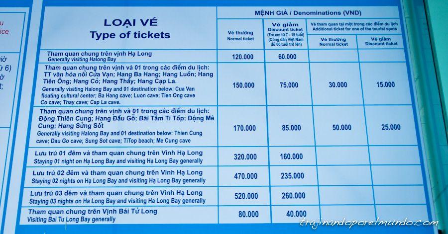crucero, halong, bahia, precio, barco, excursion, vietnam