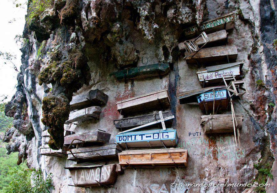 viaje, Filipinas, ataudes colgantes, muerte, ritos, enterramiento