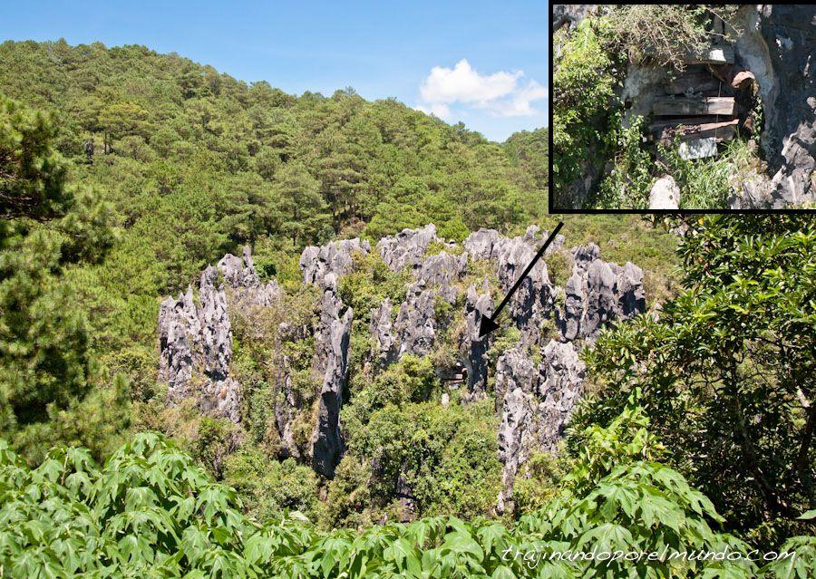ataudes, ritos funerarios, montaña, tribus