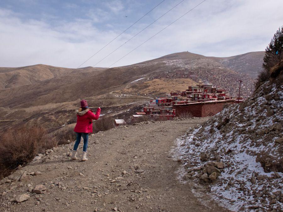 larung gar, paisajes, budismo, tibet