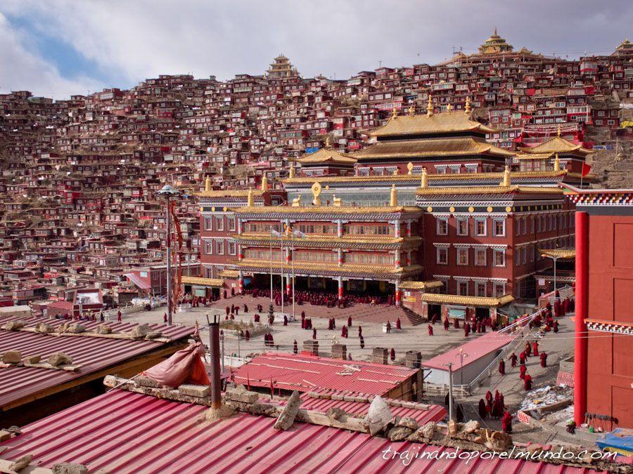 Larung gar, templo, monjas budistas, tibet