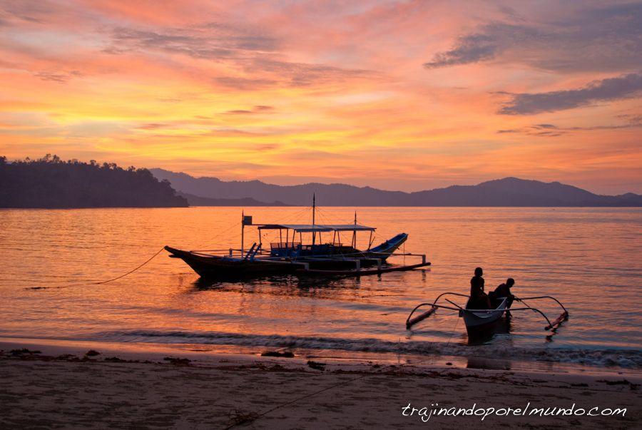 puesta de sol, playa, paraiso, sunset