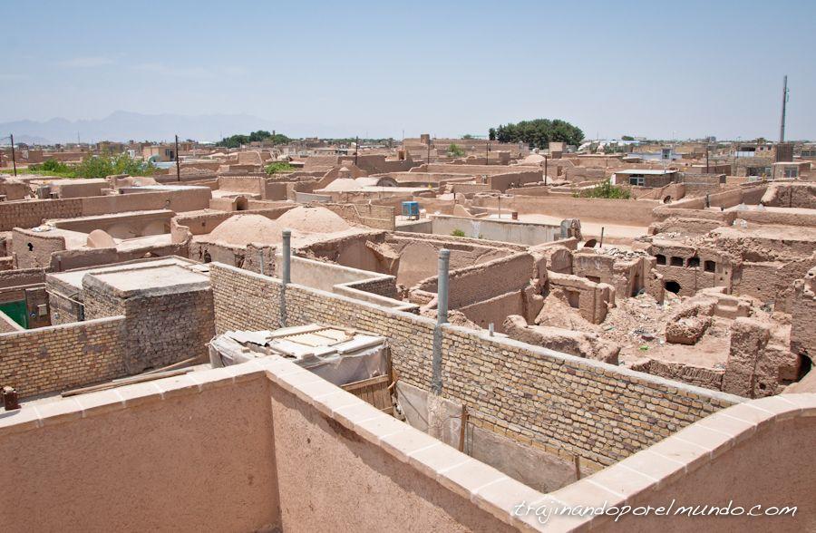 viaje a Iran, Yazd, casco antiguo, tejados, terrazas, verano
