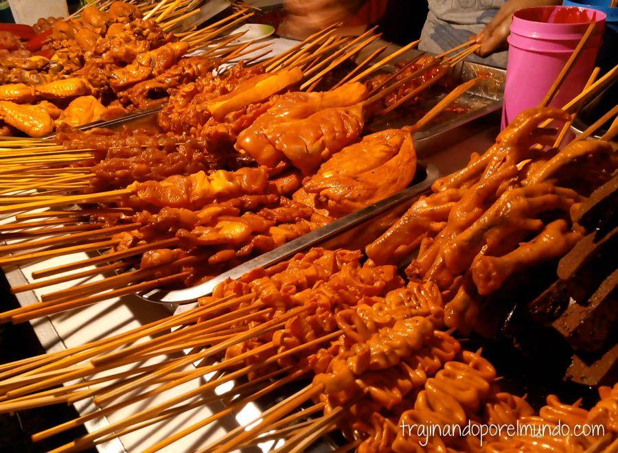 filipinas, barbacoa, comer barato, carne, gastronomia