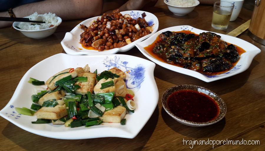 Comida china vegetariana: platos típicos de Sichuan