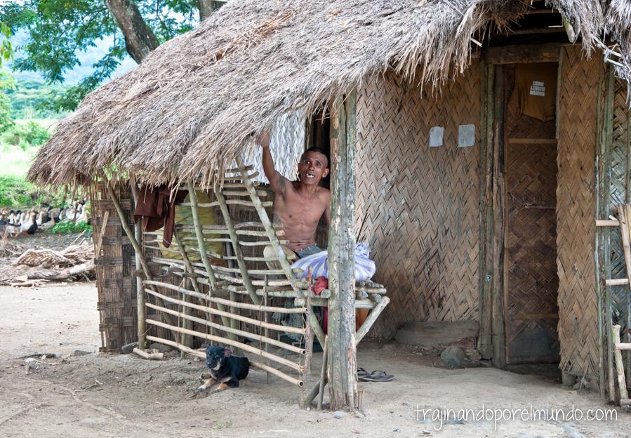 Cabaña en el penal de Iwahig, Filipinas